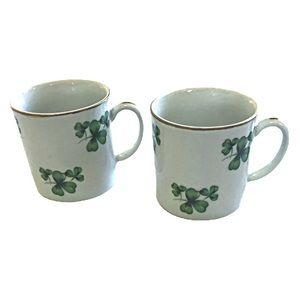 St Patrick's Day Clover Mini Mugs Made in Japan